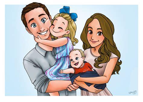 custom family portrait disney style