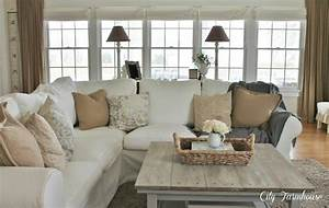 family room reveal thrifty pretty functional city With sectional sofa farmhouse