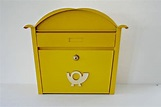 Retro European Yellow Mailbox, Modern Locked Mailbox with ...