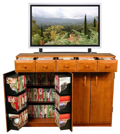 Cd Dvd Storage Cabinet Rack Tv Stand W Drawers New Ebay