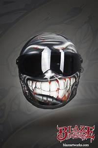 Modular Phones Smiley Custom Painted Helmet Custom Bike Helmets