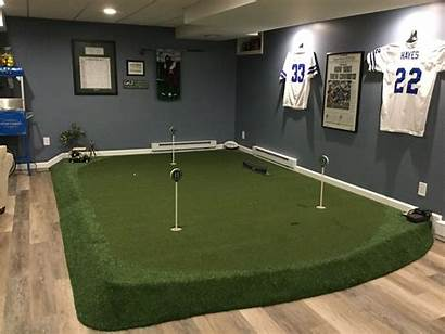 Putting Indoor Golf Basement Mat Themed Cave