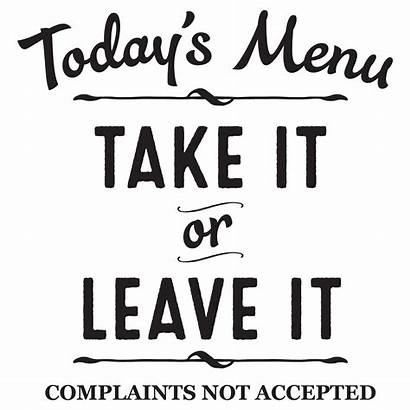 Menu Quotes Wall Decal Kitchen Todays Today
