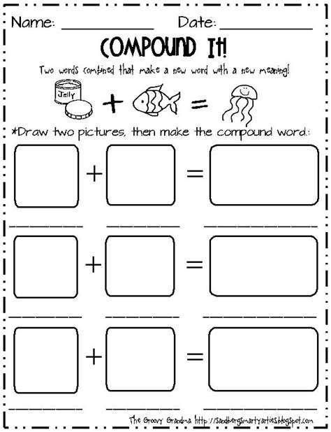 first grade compound word worksheets 2nd and 1st grade