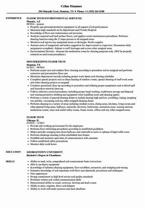 20 Environmental Services Job Description Resume in 2020