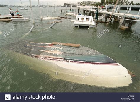 Hurricane Boats In Florida by Florida Singer Riviera Hurricane Frances Damage