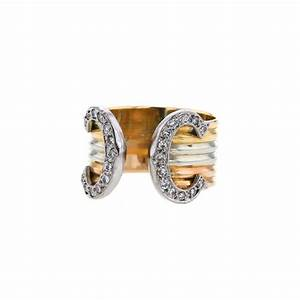 Bague 3 Ors Cartier : bague cartier c de cartier 353442 collector square ~ Carolinahurricanesstore.com Idées de Décoration