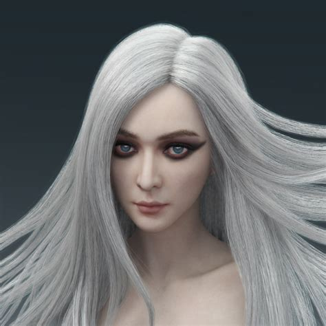 artstation bride  white hair liu keng chih