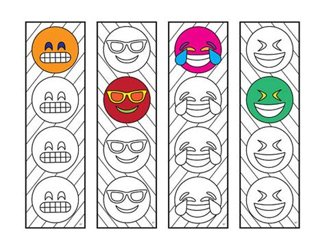 emoji  bookmarks  zentangle coloring page