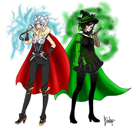 Female Thor And Possible Loki By Janeruchanart On Deviantart