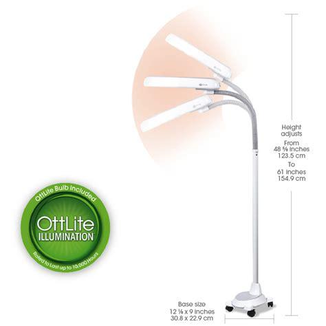 ottlite 18w floor l ottlite 18w floor l with wheels natural daylight