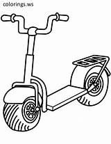 Scooter Coloring Pages Printable Pro Kick Scooters Drawing Prostriedky Transport Na Dopravne Clipart Printables Cool Categories sketch template
