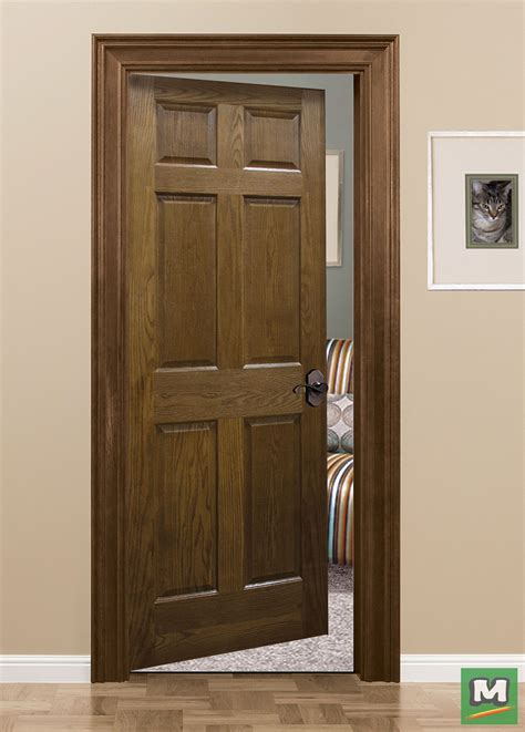 oak  panel door style  mastercraft displays  prestigious charm evident