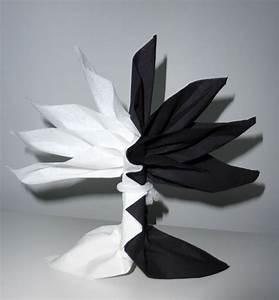 Pliage En Papier : pliage de serviette de table en forme de palmier ou arbre ~ Melissatoandfro.com Idées de Décoration