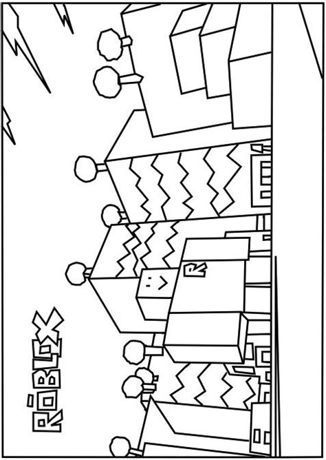 Kleurplaat Roblox Noob by A Printable Neighborhood Of Robloxia Coloring Page