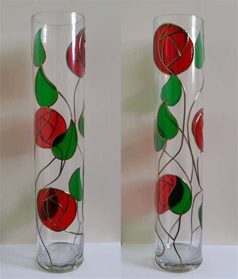 Mackintosh Style Vase Project  Glass Painting