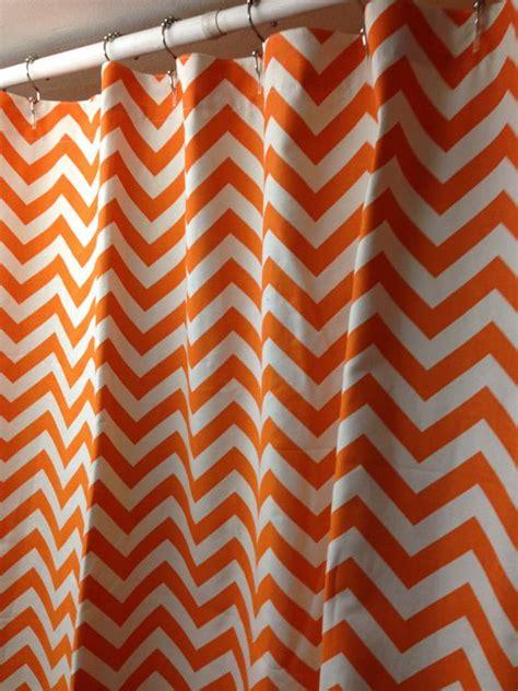 walmart orange chevron curtains fabric shower curtain 72 x 84 inches premier