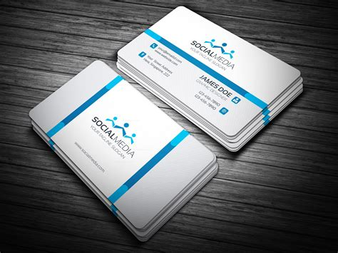 social media business card template template catalog
