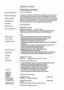 marketing assistant resume job description template With cv template for marketing job