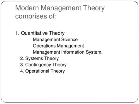 modern concept of management 4 modern management theory session 2