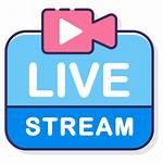 Icon Stream Streaming Icons Livestream Start Ly