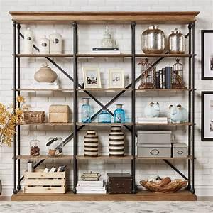 Homelegance, Open, Back, Decorative, Bookcase, -, Brown