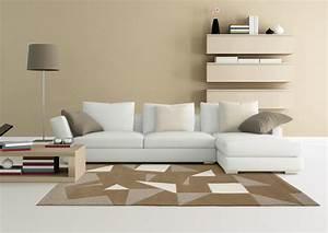 Tapis Salon Design : decoration salon beige et marron 0 tapis salon orange tapis de salon orange tapis design en ~ Teatrodelosmanantiales.com Idées de Décoration