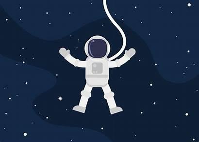 Astronaut Floating Space Cartoon Astronauta Astronaute Spaceman