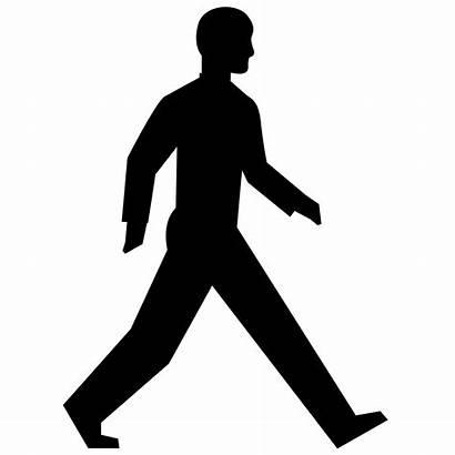 Walking Silhouette Clipart Clip Icon Walk Human