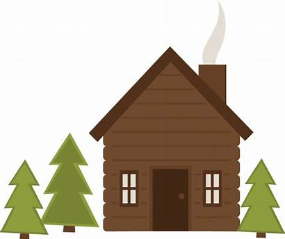 Clipart Cabin Camp Logs Cliparts Cottage Transparent