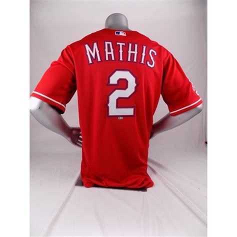 Final Season Game-Used Red Jersey - Jeff Mathis - 7/27/19 ...