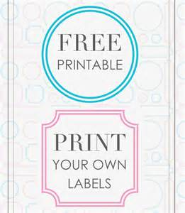 print your own labels free printable