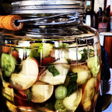 White Peach Basil Cucumber Sangria Using Riesling