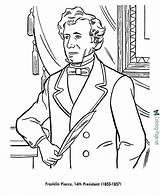 Coloring Pages Franklin Pierce Presidents President Printable Odyssey Sheets American Usa Printables Drawing States United Adventures Presidential History Printing Help sketch template