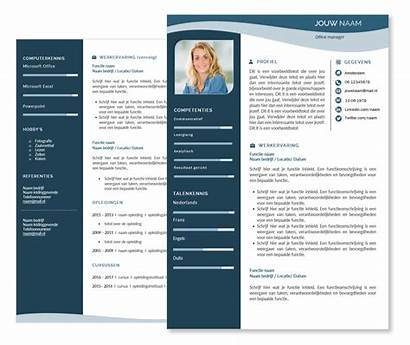Cv Template Templates Presentatie Blauw
