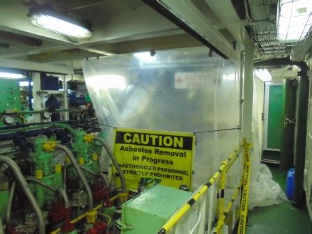 asbestos insulation dismantling shipping vessels jpt