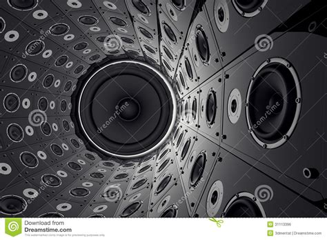 wall  speakers stock illustration illustration  loud