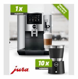 Gewinnspiele Tägliche Teilnahme : mediamarkt jura s8 espresso kaffee vollautomat und 10 jura milchsch umer hot cold gewinnen ~ Eleganceandgraceweddings.com Haus und Dekorationen