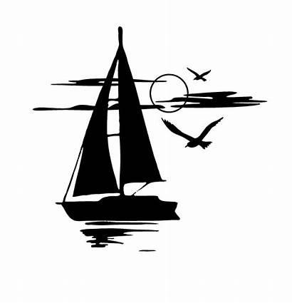 Sunset Vinyl Window Decal Sail Sticker Boat