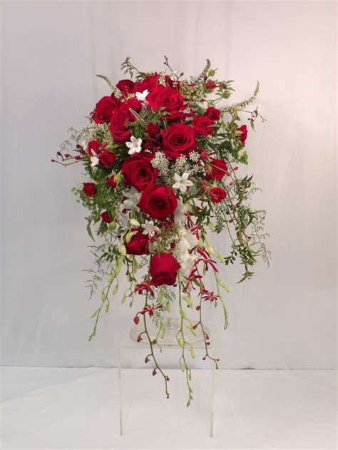 ideas  red wedding bouquets  pinterest
