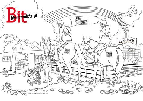Springend Paard Kleurplaat by Kleurplaten Paarden Springen Archidev Nieuwe Kleurplaten