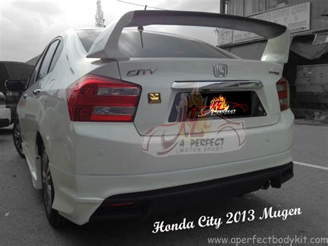 honda city  mugen rear spoiler honda city