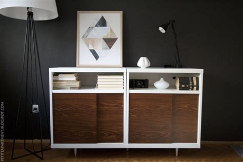 ikea wall cabinets living room ikea besta mid century modern cabinet hack petite apartment