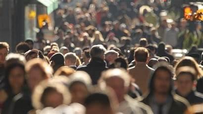 Population Canada Crowd Walking Street Change Climate