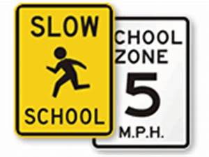 School Sign - School-S4-3, SKU: X-S4-3