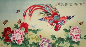 Chinese Phoenix Painting phoenix 2735006, 55cm x 100cm(22 ...
