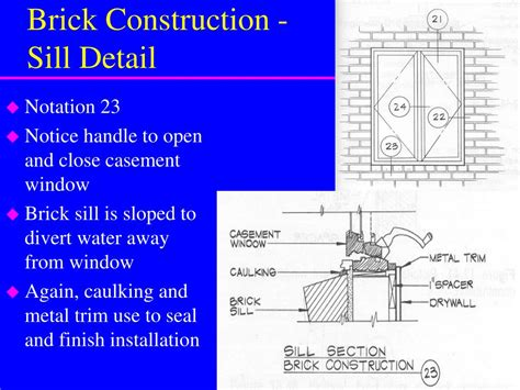 window details solid masonry veneer construction continued powerpoint