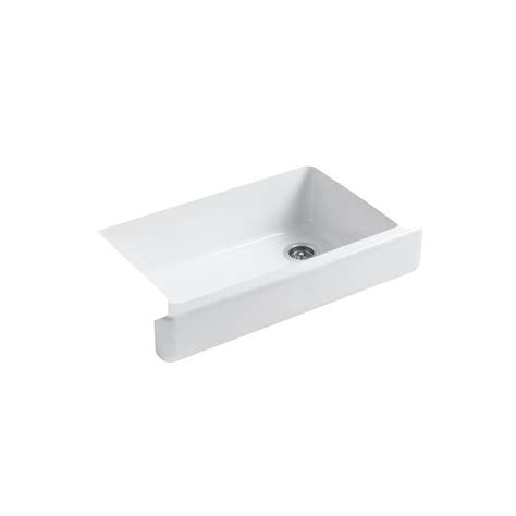 Kohler Whitehaven Sink Rack kohler whitehaven undermount farmhouse apron front cast