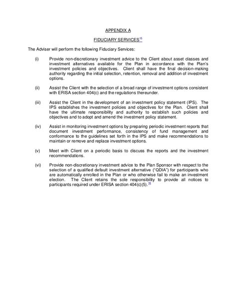erisa section 404 c ria service agreement template 408 b 2