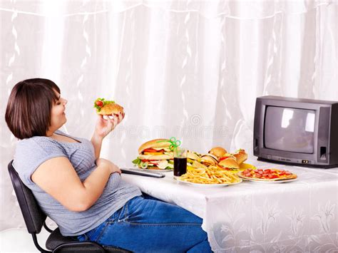 cuisine tv free fast food and tv stock photo image of interior lifestyle 24459466